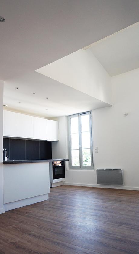 Appartement duplex à Angoulême avec une terrasse sur le toit